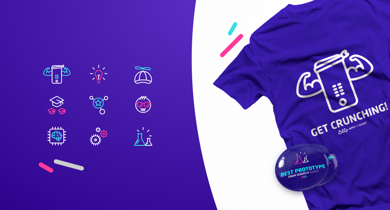 Icons, t-shirt and badge design