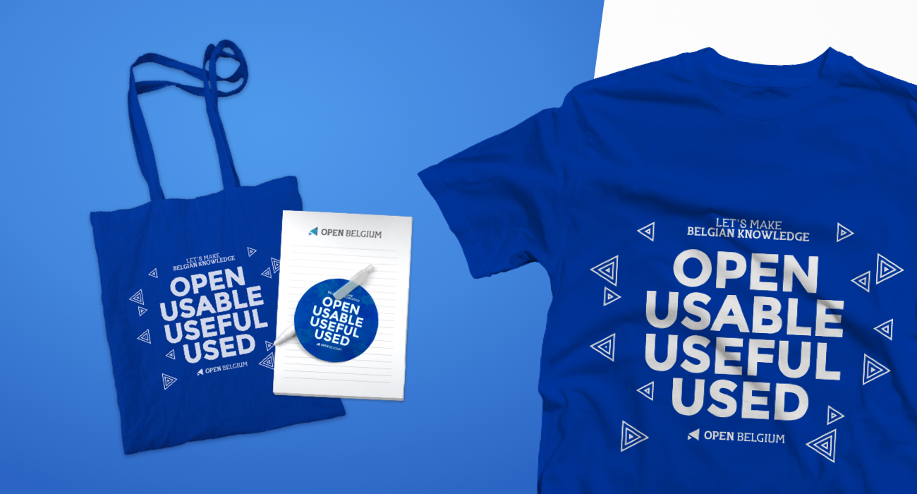 Promo-material designs; Tote bags, blocnotes, stickers and t-shirts