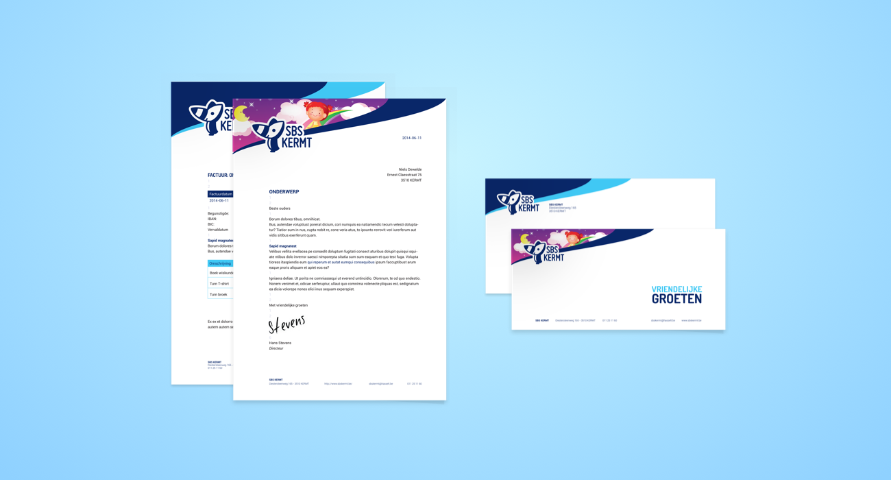 SBS Kermt letterhead and theme of the year version