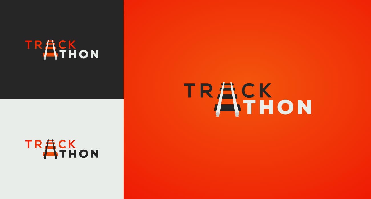 Trackathon logo and style